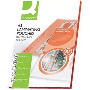 KF04123 Q-Connect A3 laminating pouches